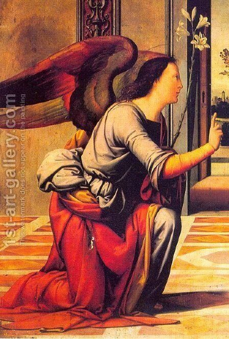 The Annunciation  (detail) 1466 by Benvenuto Di Giovanni Guasta - Reproduction Oil Painting