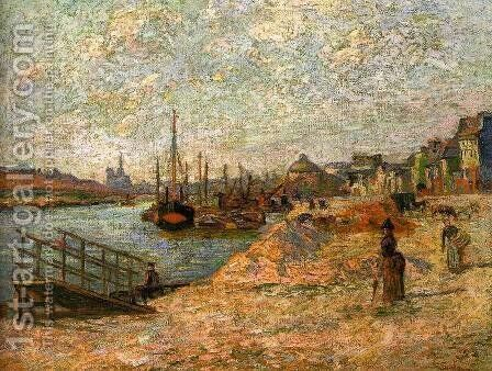 Le Quai de Bercy 1881 by Armand Guillaumin - Reproduction Oil Painting