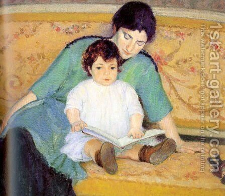 Mother and Baby Elizabeth by Bernhard Gutmann - Reproduction Oil Painting