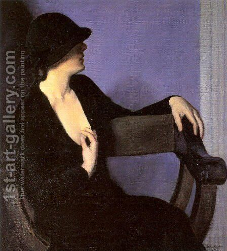 Study of a Woman in Black 1932 by Bernhard Gutmann - Reproduction Oil Painting