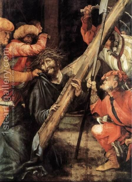 Carrying the Cross (detail) 1523-24 by Matthias Grunewald (Mathis Gothardt) - Reproduction Oil Painting