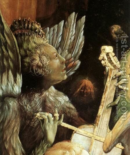 Concert of Angels (detail 2) c. 1515 by Matthias Grunewald (Mathis Gothardt) - Reproduction Oil Painting
