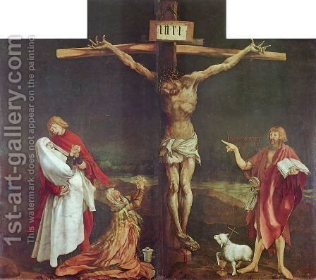 Crucifixion 1510-15 by Matthias Grunewald (Mathis Gothardt) - Reproduction Oil Painting