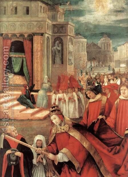 Establishment of the Santa Maria Maggiore in Rome (detail 3) 1517-19 by Matthias Grunewald (Mathis Gothardt) - Reproduction Oil Painting