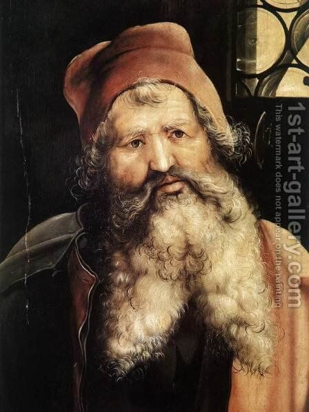 St Anthony (detail 1) c. 1515 by Matthias Grunewald (Mathis Gothardt) - Reproduction Oil Painting