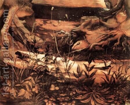 Sts Paul and Antony in the Desert (detail 3) c. 1515 by Matthias Grunewald (Mathis Gothardt) - Reproduction Oil Painting