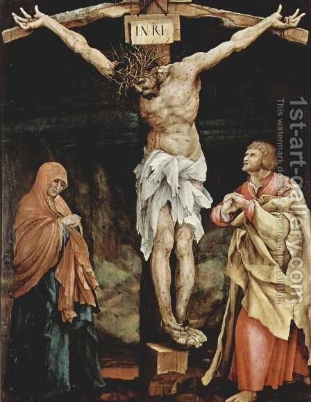 The Crucifixion 1523-24 by Matthias Grunewald (Mathis Gothardt) - Reproduction Oil Painting