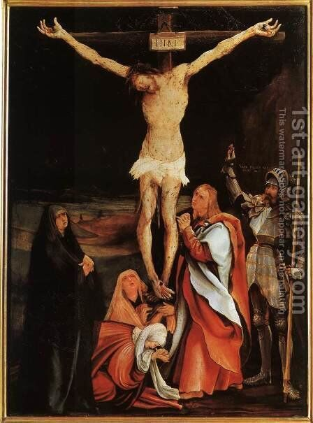 The Crucifixion c. 1501 by Matthias Grunewald (Mathis Gothardt) - Reproduction Oil Painting