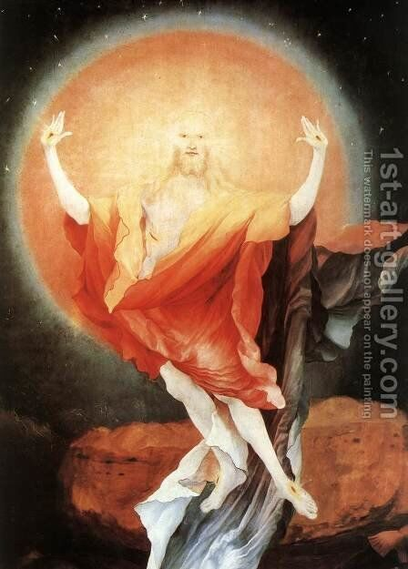 The Resurrection (detail 1) c. 1515 by Matthias Grunewald (Mathis Gothardt) - Reproduction Oil Painting