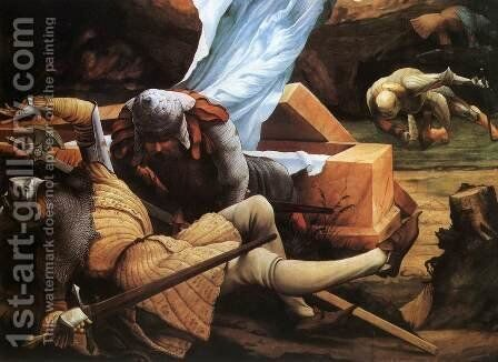 The Resurrection (detail 2), c. 1515 by Matthias Grunewald (Mathis Gothardt) - Reproduction Oil Painting
