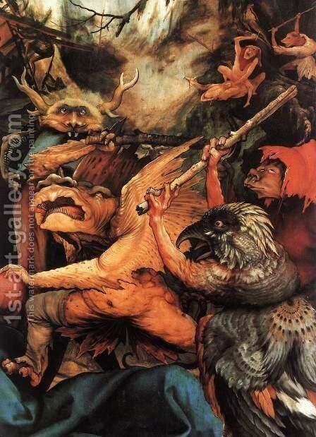 The Temptation of St Antony (detail 3) c. 1515 by Matthias Grunewald (Mathis Gothardt) - Reproduction Oil Painting