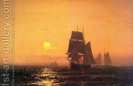 Into the Sunset  1872 by Mauritz F. H. de Haas - Reproduction Oil Painting