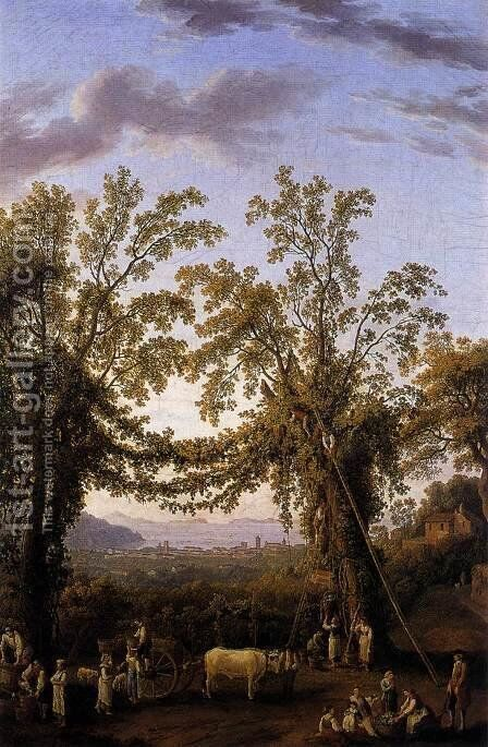 Autumn c. 1784 by Jacob Philipp Hackert - Reproduction Oil Painting