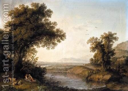 Italianate Landscape 1778 by Jacob Philipp Hackert - Reproduction Oil Painting
