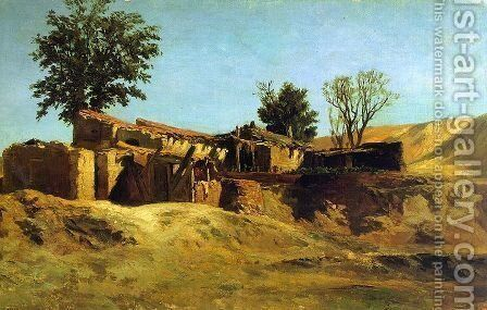 Tileworks in the Principe Pio Mountains by Carlos de Haes - Reproduction Oil Painting