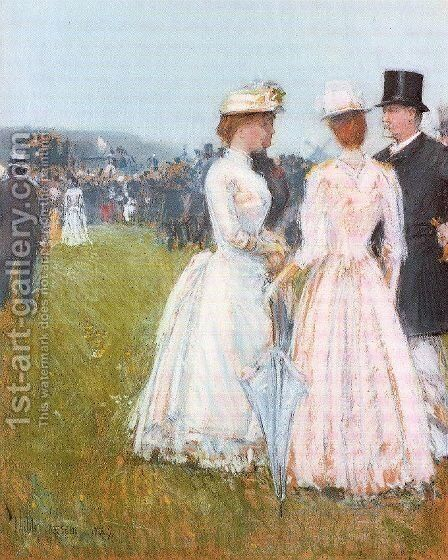 At the Grand Prix in Paris 1887 by Childe Hassam - Reproduction Oil Painting