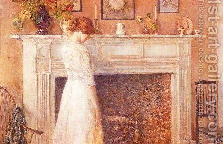In the Old House 1914 by Childe Hassam - Reproduction Oil Painting