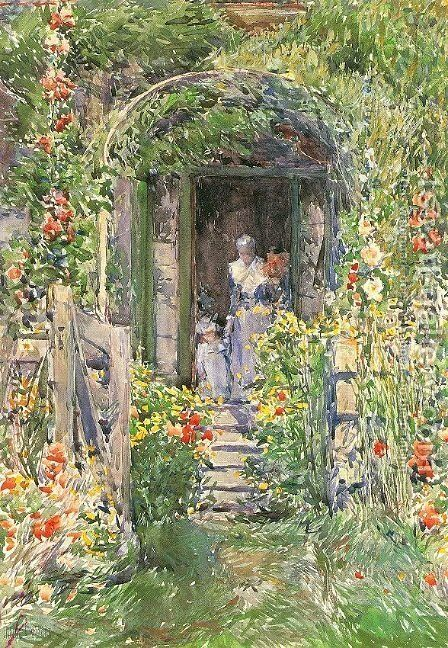 Isles of Shoals Garden 1892 by Childe Hassam - Reproduction Oil Painting