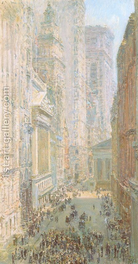 Lower Manhattan 1907 by Childe Hassam - Reproduction Oil Painting