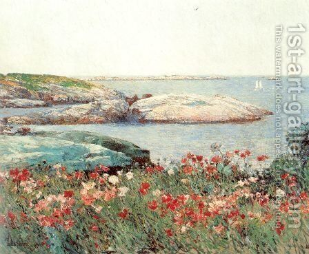 Poppies, Isles of Shoals 1891 by Childe Hassam - Reproduction Oil Painting