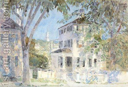 Street in Portsmouth 1917 by Childe Hassam - Reproduction Oil Painting