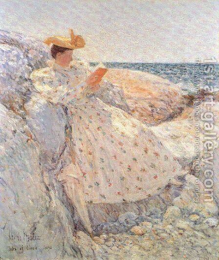 Summer Sunlight 1892 by Childe Hassam - Reproduction Oil Painting