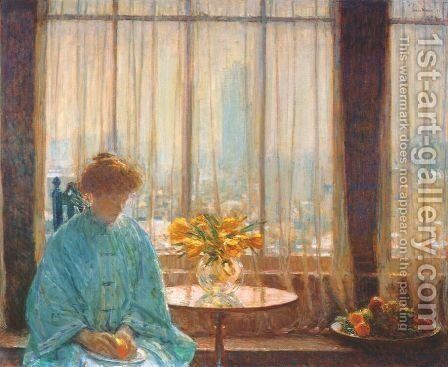 The Breakfast Room, Winter Morning 1911 by Childe Hassam - Reproduction Oil Painting