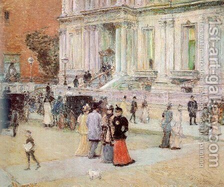 The Manhattan Club (The Stewart Mansion) 1891 by Childe Hassam - Reproduction Oil Painting