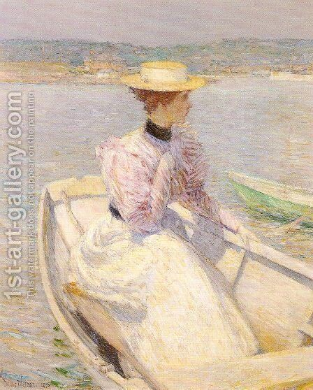 The White Dory, Gloucester 1895 by Childe Hassam - Reproduction Oil Painting