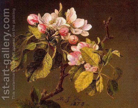Apple Blossoms by Martin Johnson Heade - Reproduction Oil Painting