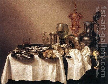 Still Life with a Gilt Goblet 1635 by Willem Claesz. Heda - Reproduction Oil Painting