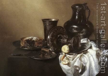 Still-life c. 1636 by Willem Claesz. Heda - Reproduction Oil Painting