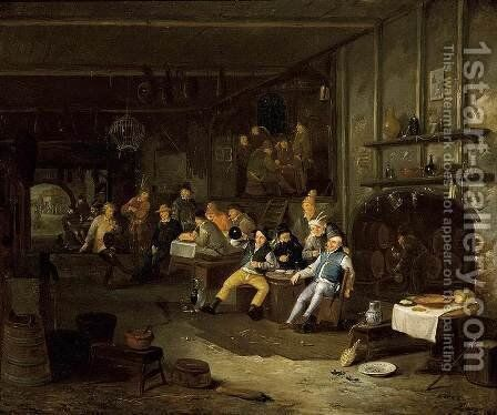Interior of an Inn by Egbert van, the Younger Heemskerck - Reproduction Oil Painting