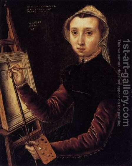 Self-Portrait 1548 by Caterina van Hemessen - Reproduction Oil Painting