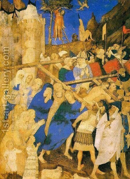 The Carrying of the Cross  1409 by Jacquemart De Hesdin - Reproduction Oil Painting