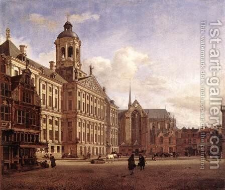 The New Town Hall in Amsterdam, after 1652 by Jan Van Der Heyden - Reproduction Oil Painting