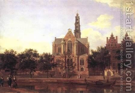 View of the Westerkerk, Amsterdam 1670s by Jan Van Der Heyden - Reproduction Oil Painting