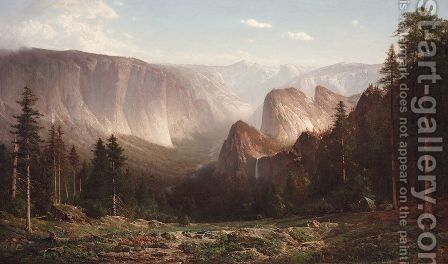 Grand Canyon of the Sierras, Yosemite  1871 by Thomas Hill - Reproduction Oil Painting