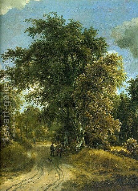 Woodland Road by Meindert Hobbema - Reproduction Oil Painting