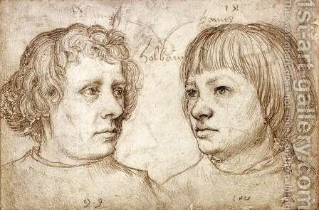 Ambrosius and Hans Holbein 1511 by Hans, The Elder Holbein - Reproduction Oil Painting