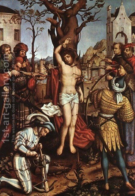The Martyrdom of Saint Sebastian c. 1516 by Hans, The Elder Holbein - Reproduction Oil Painting