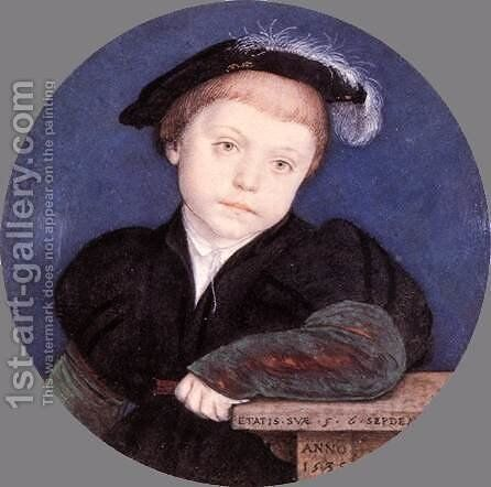 Charles Brandon 1541 by Hans, the Younger Holbein - Reproduction Oil Painting