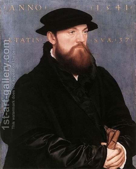De Vos van Steenwijk 1541 by Hans, the Younger Holbein - Reproduction Oil Painting