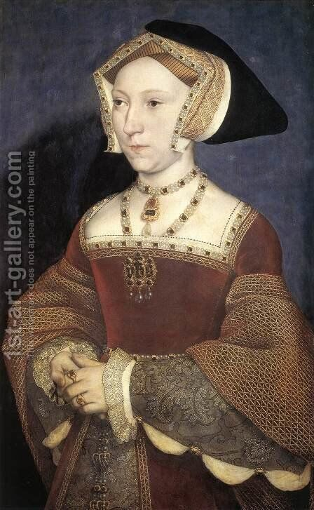 Jane Seymour, Queen of England 1536 by Hans, the Younger Holbein - Reproduction Oil Painting