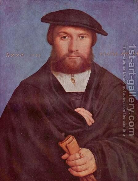 Portrait of a Member of the Wedigh Family 1533 by Hans, the Younger Holbein - Reproduction Oil Painting