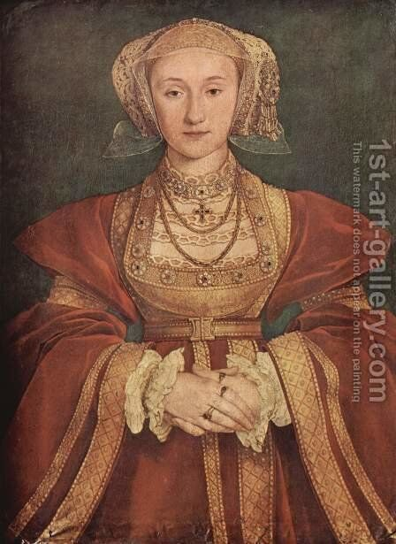 Portrait of Anne of Cleves c. 1539 by Hans, the Younger Holbein - Reproduction Oil Painting