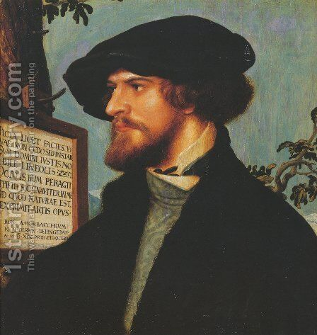Portrait of Bonifacius Amerbach 1519 by Hans, the Younger Holbein - Reproduction Oil Painting