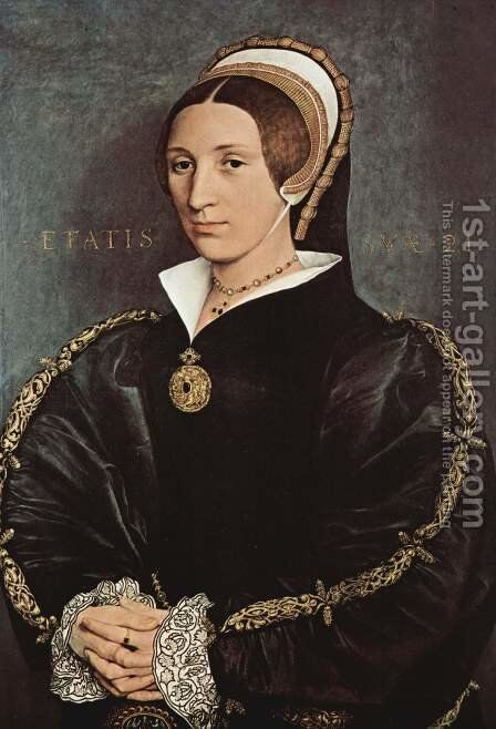 Portrait of Catherine Howard 1540-41 by Hans, the Younger Holbein - Reproduction Oil Painting
