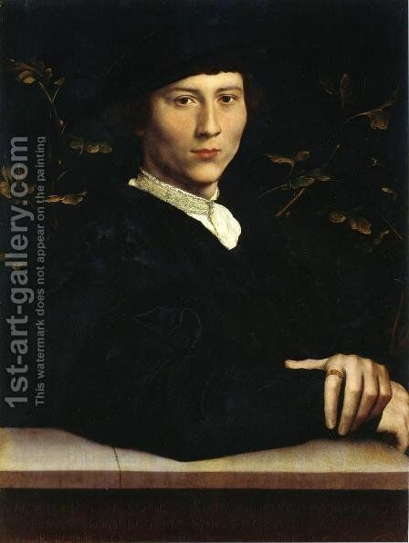 Portrait of Derich Born 1533 by Hans, the Younger Holbein - Reproduction Oil Painting