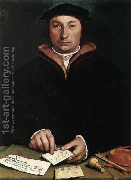 Portrait of Dirk Tybis 1533 by Hans, the Younger Holbein - Reproduction Oil Painting
